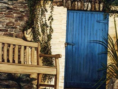 Blue Door by Sue Lassetter